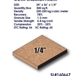 "1/4"" Cork Sheet underlayment-0"