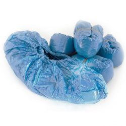 Shoe Covers Disposable Polyethylene Blue-0