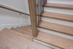 Standard treads on existing plywood steps