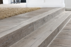 Prefinished steps to match the flooring