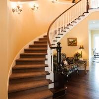 Custom curved steps