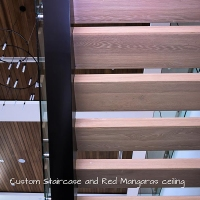 Custom steps on metal structure