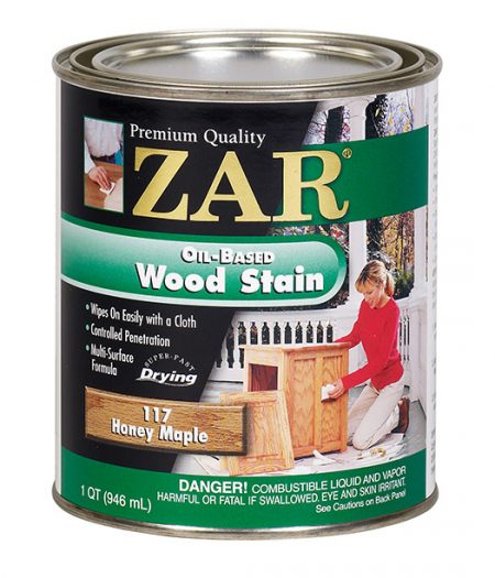 ZAR Oil Based Wood Stain Honey Maple 11712-0